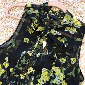 Who What Wear Dresses - NWT Who What Wear Black & Yellow Floral Dress